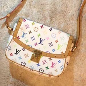 Louis Vuitton Solongne White/multi color purse
